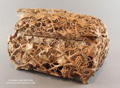 NAIRI SAFARYAN #Jewelry #Box #pear #wood For more information, please visit www.woodsymphony.com or www.nairisartstudio.com