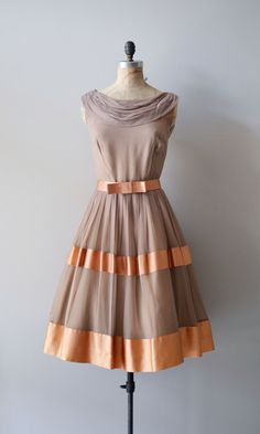 1950's Chiffon Dress #retro #vintage #feminine #designer #classic #fashion #dress #highendvintage