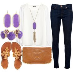 A fashion look from March 2014 featuring H&M blouses, J Brand jeans and Tory Burch sandals. Browse and shop related looks.