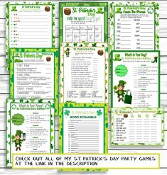 Printable games and activities for St. Patrick's Day – Find Your St Patrick's Day Activities St Patricks Day Spiele, St. Patricks Day, Party Activities, Activity Games, Party Games, St Patrick's Day Trivia, St Patrick's Day Games, Emoji Games, St Patrick Day Activities