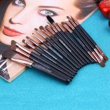 15 unids/set sombra de ojos fundación ceja labio pincel de maquillaje cepillos herramientas Kits cosméticos maquillaje cepillo conjunto(China (Mainland))