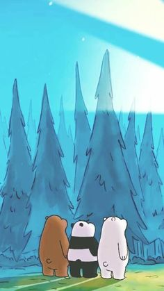 We Bare Bears Wallpaper Cartoon Wallpaper, Bear Wallpaper, Fall Wallpaper, Disney Wallpaper, Iphone Wallpaper, Wallpaper Wallpapers, Phone Wallpapers Tumblr, Funny Wallpapers, Pretty Wallpapers