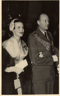 The Cross of Laeken: King Leopold III of Belgium and Princess Lilian. The Kings second marriage. King Leopold III reigned from 1934 to l944 when he was exiled. He returned to Belgium in l950 but in 1951 abdicated in favor of his son Baudouin.