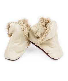 Take a look at this Cream Booties by SKEANIE on #zulily today#zulily #fall