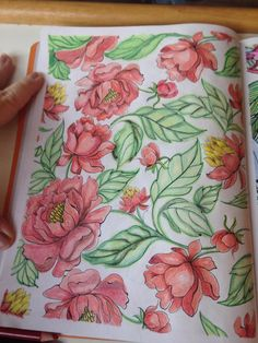 Inspirational coloring pages from Secret Garden, Secret Garden Coloring Book, Johanna Basford Coloring Book, Colored Pencil Techniques, Colouring Techniques, Color Pencil Art, Coloring Book Pages, Colorful Drawings, Copics, Doodle Art