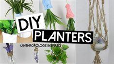 Diy Plant Pots / Planters | Anthropologie Inspired (Summer Room Decor!)