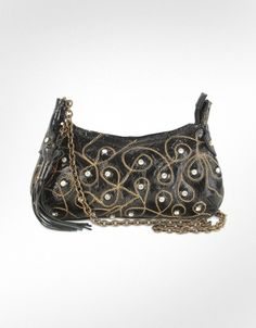 Ghibli  Jeweled Patent Leather Chain Strap Purse