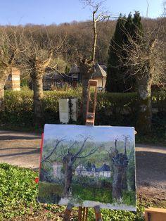 Peinture sur toile, maison des propriétaires Le Clos du Hêtre. Painting owner's house