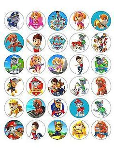 - 30 X Paw Patrol Edible Wafer/Paper Cupcake Cake Toppers Birthday Party Image & Garden Paw Patrol Cupcake Toppers, Paw Patrol Cupcakes, Edible Cupcake Toppers, Paw Patrol Party, Paw Patrol Birthday, Birthday Cake Toppers, Cake Birthday, Paw Patrol Cake Decorations, Edible Cake Decorations