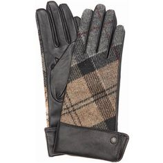 Women's Barbour Stowe Gauntlet Gloves - Winter Tartan (€60) ❤ liked on Polyvore featuring accessories, gloves, barbour gloves, studded gloves and barbour