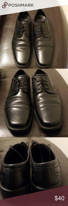 Ecco Dress Shoe Size 13 GUC.... Comfortable... Stylish... Euro 47 US 13 Ecco Shoes Oxfords & Derbys