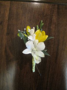 Yellow and White Boutonniere by BranchingOutCo, via Flickr
