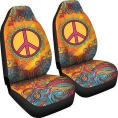 With our Peace and Love car seat covers, your car will get a splash of happy colors. Order your custom-printed peace sign car seat covers from YesWeVibe today! Diy For Men, Diy For Girls, Lilly Pulitzer, Hippie Car, Hippie Life, Car Accessories For Guys, Premium Cars, Fancy Cars, Volkswagen Bus