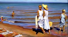 Larson Jeffrey 2001 A Day At The Beach « Jeffrey T. Larson « Artists « Art might - solo arte Seaside Art, Beach Art, Minnesota, Museum Studies, Outdoor Paint, Portraits, Art Graphique, Beach Scenes, Old Master