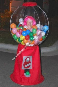 Homemade+Halloween+Costumes+for+Adults | Coolest Homemade Gumball Machine Halloween Costume Idea 13