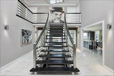 New vision Hallway Foyer Staircase Contemporary by Atelier Cachet Staircase Contemporary, Contemporary Furniture, Foyer Staircase, Stairs, Luxury Interior Design, Design Projects, Home Decor, 30th, Condo