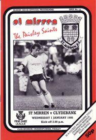 1980s St. Mirren Home programme