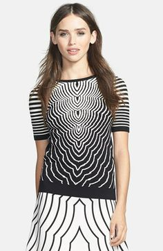 MARC BY MARC JACOBS 'Radio Waves' Print Crewneck Sweater available at #Nordstrom