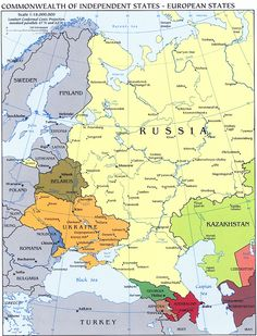 Political map of europe and russia. Political map of europe and russia.