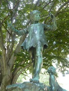 """""""Peter Pan statue St. Clair and Avenue Road, Toronto, Glenn Gould Park""""   HOME!!!! ~ Di."""