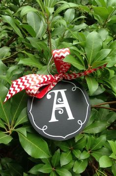 Personalized Christmas Ornaments....Find me on Facebook.  Google:  Petal Pushers, Greenville, SC