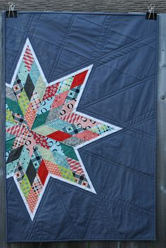 Florence Star | Nice fusing of modern and trad.  I really like the quilting