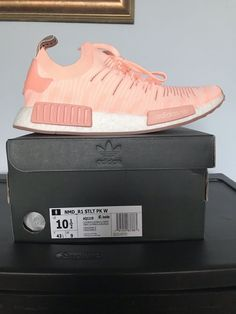 9c8a0509abb41 Adidas NMD R1 STLT PK W Women Primeknit Clear Orange Running White AQ1119