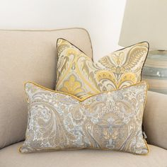 Floral ornament cushion cover, Pattern cover pillow, ornament print pillow, piped pillow, yellow and beige pillow, back yellow velvet Purple Pillows, Beige Cushions, Boho Cushions, Orange Pillows, Decorative Cushions, Decorative Pillow Covers, Cover Pillow, Cushion Cover Pattern, Pipe Decor