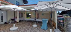 Mit unseren Mietmöbeln, Sonnenschirmen und Biergarnituren
