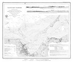 18 x 24 inch 1848 US old nautical map drawing chart of Navigation Chart of Nantucket Harbor From U. Architecture Portfolio, Architecture Diagrams, Architecture Drawings, Nautical Chart, Custom Map, Historical Maps, Nantucket, Data Visualization, Drawing Techniques
