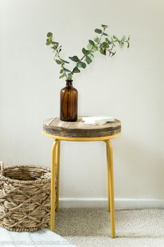 DIY: industrial side table