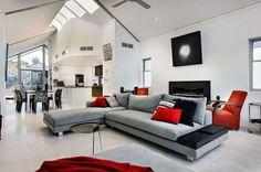Colore pareti di casa, abbinamenti - Parete grigia