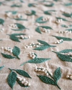 Lily of the valley embroidery by yumiko higuchi by Lainyga