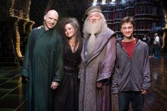 "And the heroes and villians smiling together: | 23 Images That Will Change The Way You Look At ""Harry Potter"""