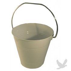 "Metal Favor Bucket (Sand Pail Favor Bucket) 5.5\"" H x 6\"" W - WHITE (Set of 36 = $1.94 per Bucket)"