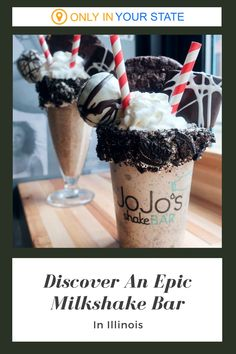 Whether you love chocolate or vanilla ice cream, this incredible milkshake bar in Illinois is for you. A foodie favorite, you'll find the ultimate desserts here - shakes overflowing with cookies, candy, and more. Chocolate Heaven, Love Chocolate, Chocolate Oreo, Chocolate Marshmallows, Chocolate Topping, Honey Fried Chicken, Milkshake Bar, Oreo Shake, Double Chocolate Cookies
