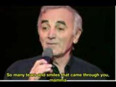 Charles Aznavour La Mama English subtitles