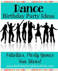 Dance theme party ideas