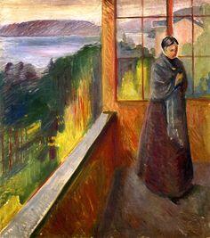 On the Veranda by Edvard Munch - 1892