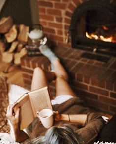 A warm fire, a comfortable chair and a good book. Can you think of a better way to spend a winter evening? I can't.