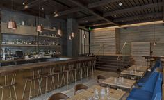 The latest creation of restaurateur David Myers (of West Hollywood's French brasserie Comme Ça) is located in The Century, a 42-storey upscale tower designed by architect Robert A M Stern. Interiors by LA-based MAI Studio feature reclaimed wood, gl...