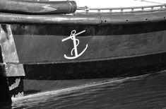 #ancre #bateau #coque #dcors #marin #noir et blanc #port
