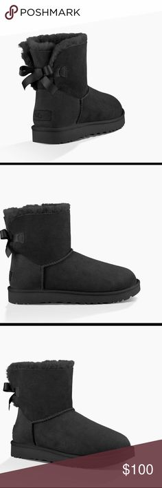 Mini Bailey Bow 🔥A LIMITED TIME ONLY DEAL🔥 These fur lined boots from UGG Australia are perfect for the winter months to keep your feet nice and toasty while being the coolest person on the block. These particular ones are in excellent condition. If you have any questions please leave a comment. UGG Shoes Winter & Rain Boots