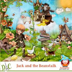 Jack and the beanstalk by Kastagnette Jack And The Beanstalk, Play, Kit, Fictional Characters, Fantasy Characters