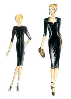 Patrón de costura Vestidos de noche 3233