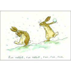 Anita Jeram - bunnies playing in the snow