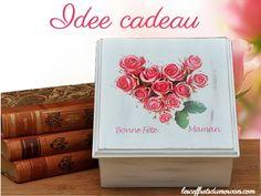 belle #idée #cadeau pour la #fête des #mères, boite coffret bijou en bois à personnaliser image ou photo : http://www.lescoffretsdumorvan.com/coffret-fete-des-meres-blanc,fr,4,CFDMB.cfm
