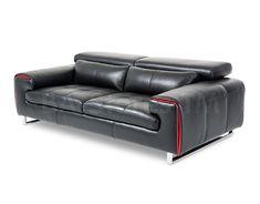 Mia Bella Magrena Leather Sofa by Aico