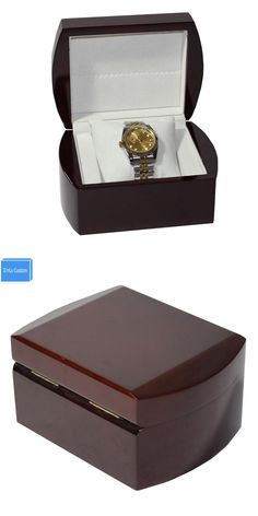 Elegant Carbon Fiber 6 Grids Display Gift Watch Winding Box