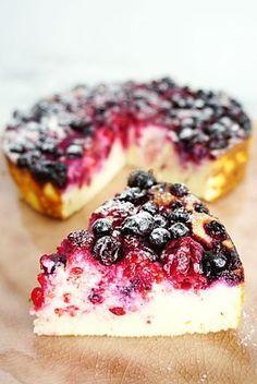 Koolhydraatarme ricottacake met rood fruit